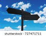 blank road signpost  on blue... | Shutterstock . vector #727471711