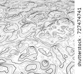3d topographic map background... | Shutterstock . vector #727474741