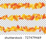 oak leaf abstract background... | Shutterstock .eps vector #727479469