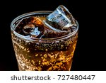 cola with ice food background... | Shutterstock . vector #727480447