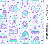 epilepsy seamless pattern with... | Shutterstock .eps vector #727481719