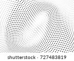 abstract halftone wave dotted... | Shutterstock .eps vector #727483819