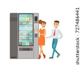business people standing next... | Shutterstock .eps vector #727486441