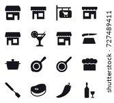 16 vector icon set   shop  shop ... | Shutterstock .eps vector #727489411