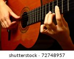 Closeup View Of Playing Classi...