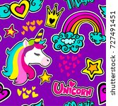 fashion patch badges in sketch... | Shutterstock .eps vector #727491451