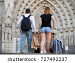 active man and woman going the...   Shutterstock . vector #727492237