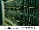 close up of sound mixer.... | Shutterstock . vector #727494994