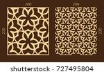 laser cutting set. woodcut... | Shutterstock .eps vector #727495804