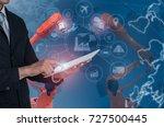industry 4.0 concept ... | Shutterstock . vector #727500445