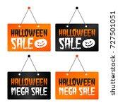 halloween sale   halloween mega ... | Shutterstock .eps vector #727501051