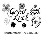 Good Luck. Set Of Hand Drawn...