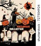 halloween characters set.  | Shutterstock . vector #727504924