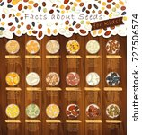 seasoning seeds in plates and... | Shutterstock .eps vector #727506574