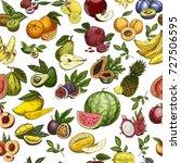 seamless pattern background of... | Shutterstock .eps vector #727506595