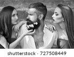 handsome man in white shirt... | Shutterstock . vector #727508449