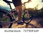 woman cyclist cycling on summer ... | Shutterstock . vector #727509169