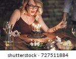beautiful happy caucasian...   Shutterstock . vector #727511884