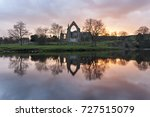 Bolton Priory At Dusk Reflecte...