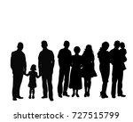 vector  silhouette big family   Shutterstock .eps vector #727515799