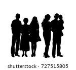 vector  silhouette family   Shutterstock .eps vector #727515805