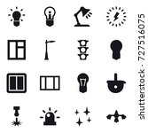 16 vector icon set   bulb ... | Shutterstock .eps vector #727516075