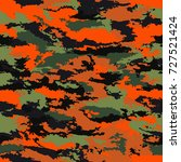 camouflage military background. ... | Shutterstock .eps vector #727521424