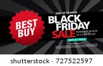 black friday sale banner layout ... | Shutterstock .eps vector #727522597