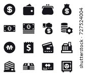 16 vector icon set   dollar ... | Shutterstock .eps vector #727524004