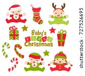 baby's first christmas graphics ...   Shutterstock .eps vector #727526695