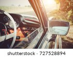 retro car fragment | Shutterstock . vector #727528894