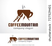 coffee mountain logo template... | Shutterstock .eps vector #727529401