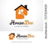 house bee logo template design... | Shutterstock .eps vector #727529455