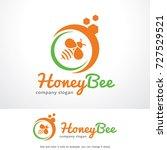 honey bee logo template design... | Shutterstock .eps vector #727529521