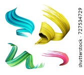 3d render  abstract brush... | Shutterstock . vector #727534729