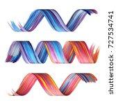 3d render  abstract brush... | Shutterstock . vector #727534741