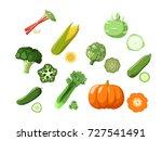 vector set of different... | Shutterstock .eps vector #727541491