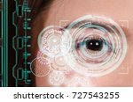 close up of woman eye in... | Shutterstock . vector #727543255
