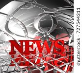 news tag in abstract futuristic ... | Shutterstock . vector #727544311