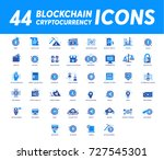 block chain icons | Shutterstock .eps vector #727545301