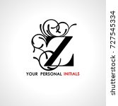 capital letter z . decorated... | Shutterstock .eps vector #727545334