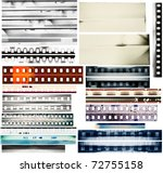 design elements set  film... | Shutterstock . vector #72755158