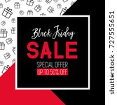black friday sale template.... | Shutterstock .eps vector #727555651