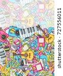 music concept. musical... | Shutterstock .eps vector #727556011