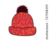 cute winter hat isolated on... | Shutterstock .eps vector #727558195