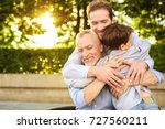 family meeting. a man and a boy ... | Shutterstock . vector #727560211