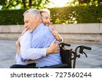 the old man who sits on a... | Shutterstock . vector #727560244
