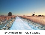 cycling road and windmill in... | Shutterstock . vector #727562287