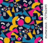 mosaic pattern of broken tile.... | Shutterstock .eps vector #727562695
