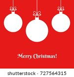 christmas baubles ornaments on... | Shutterstock .eps vector #727564315